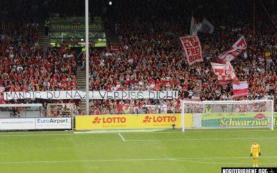 Solidarität mit SC Fans, Kritik an Freiburger Polizei